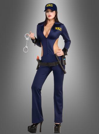 Sexy FBI Agentin Kostüm Polizistin