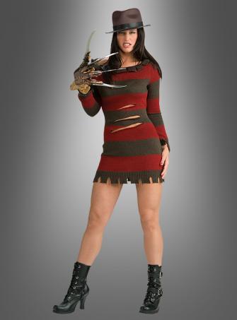 Miss Krueger Kostüm Freddy mit Hut und Handschuh