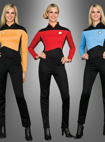 STAR TREK Damen Anzug Next Generation rot
