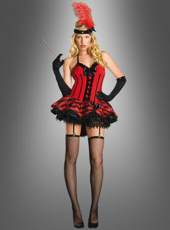 Sexy Kabarett Saloon Kostüm