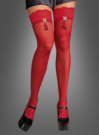 Geisha Thigh highs red
