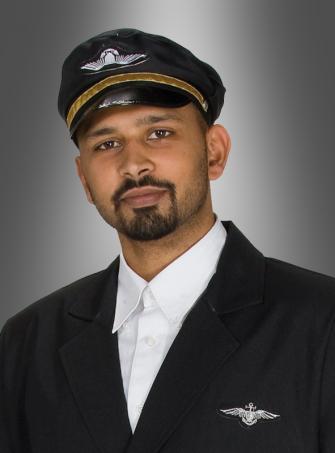 Pilotenmütze schwarz