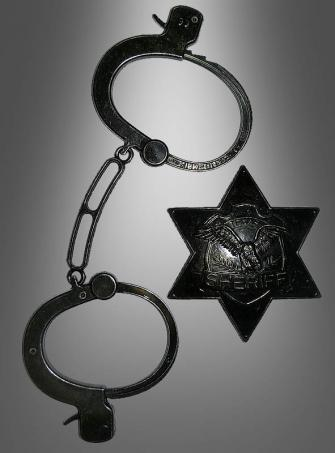 Sheriff Kit with Cuffs and Star