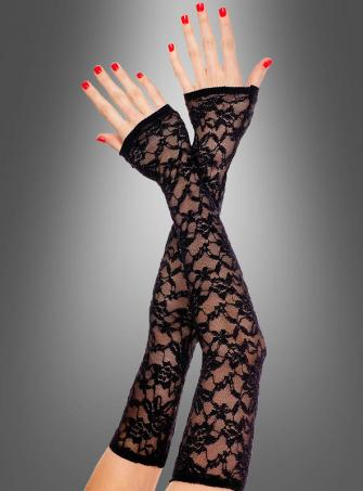 Long fingerless lace Gloves