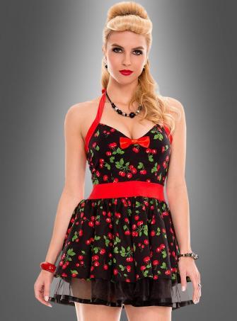 50er Jahre Neckholderkleid Cherry
