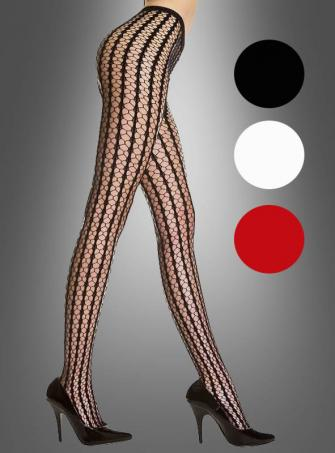 Seamless striped crochet pantyhose - one size