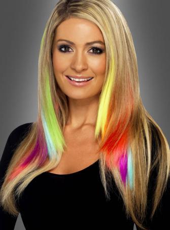Haarsträhnen 2 St. in tollen Farben