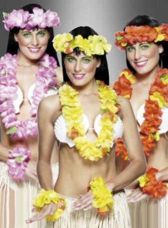 Hawaii Blumenkette Kostümset