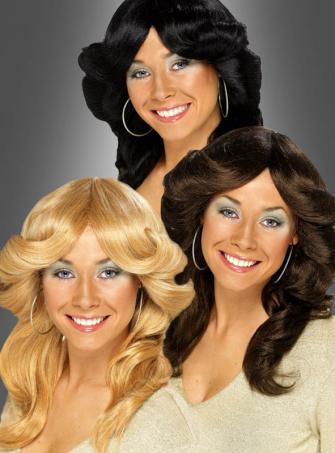 70er Jahre Föhnwelle Damenperücke