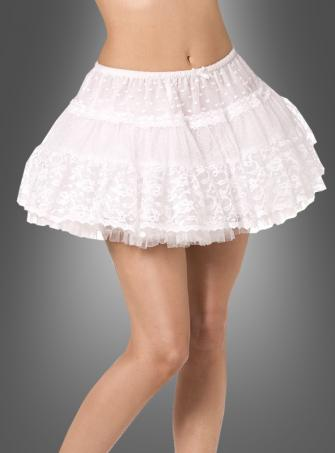 Short Crinoline white with silver trim