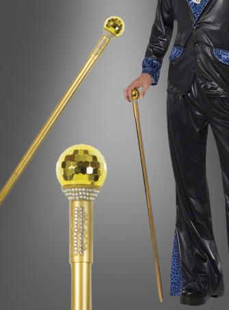 Gold Pimp Walking Cane