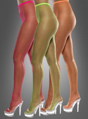Fishnet Lattice Tights Neon