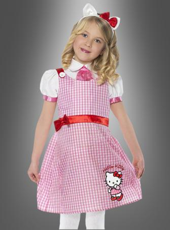 Hello Kitty Kleid rosa mit Haarreif