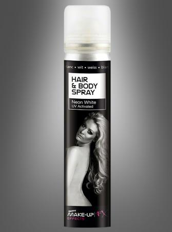 UV activated Body and Hair Spray UV White