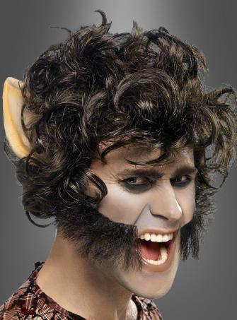 Werwolf Perücke mit Ohren
