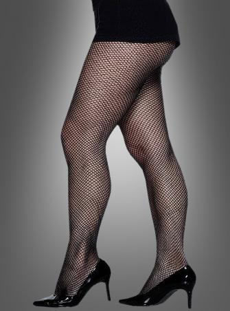 Fishnet Tights black XL Unisex