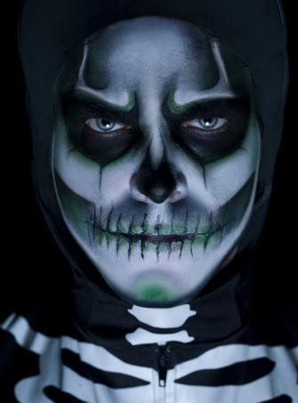 Leuchtendes Skelett Makeup Set