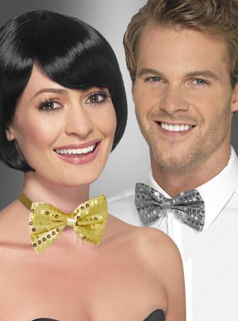 Sequin Bow Tie gold or silver