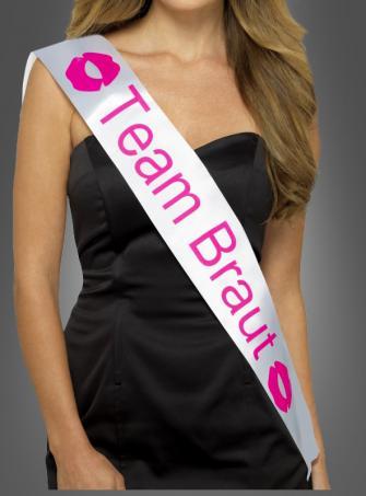 Schärpe Team Braut für Junggesellinnenabschied