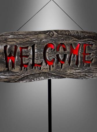 Eingangssschild Welcome mit Leuchtfunktion
