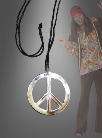 Hippie Medaillon Peace Kette
