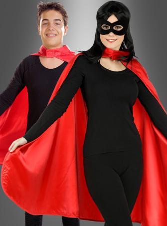 Roter Umhang für Erwachsene Superhelden