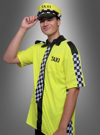 Taxikostüm Hemd und Mütze