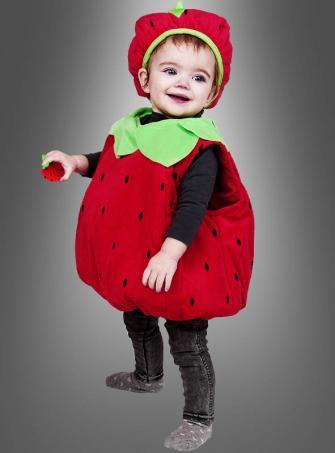 Plüsch Erdbeerkostüm für Babys wattiert