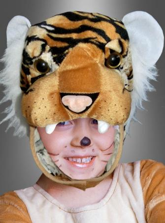 Brown Tiger Head and Mittens