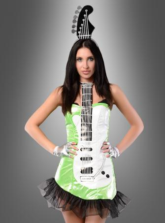 Neon Guitar Girl Costume green
