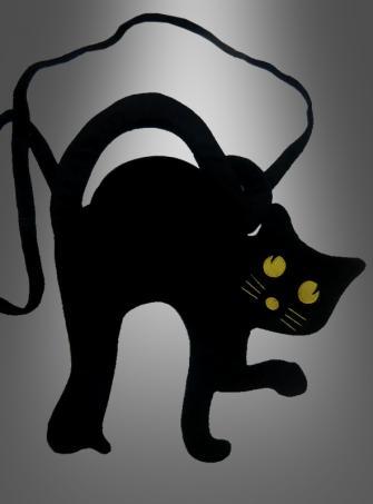 Schwarzer Kater Handtasche