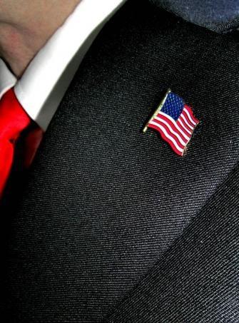 USA Flag Stars and Stripes Pin