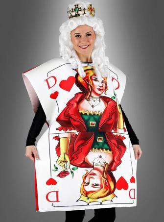 Spielkartenkostüm Damen mit Krone