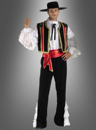Spanischer Tänzer Flamenco DELUXE Kostüm