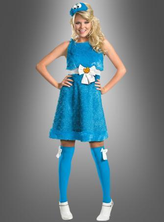 Krümelmonster Kostüm Damen aus der  Sesamstrasse