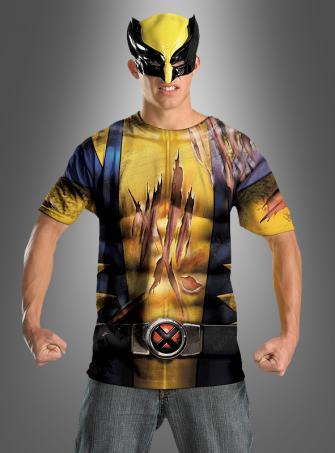 Wolverine Shirt und Maske für Jugendliche