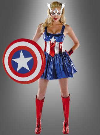 Miss Captain America Women Costume