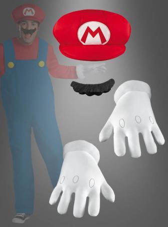 Super Mario Zubehör Set für Erwachsene