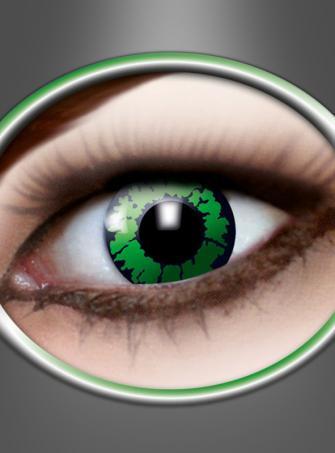 Farbige Kontaktlinsen Reptil grün