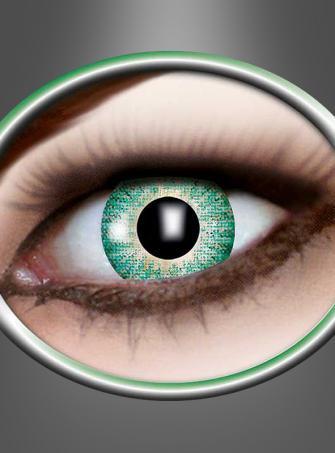 Kontaktlinsen Ein-Ton grün
