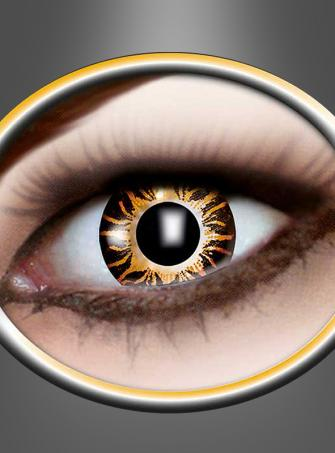 Contact Lenses Three Tone brown yellow