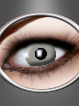 Farbige Kontaktlinsen Vampir grau