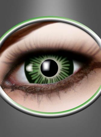 Kontaktlinsen große Augen grün