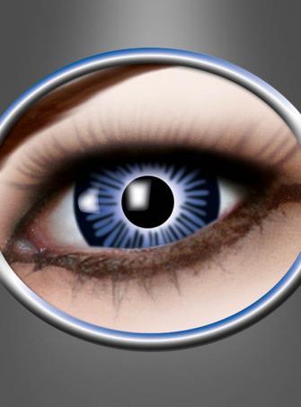 Große Kontaktlinsen blau