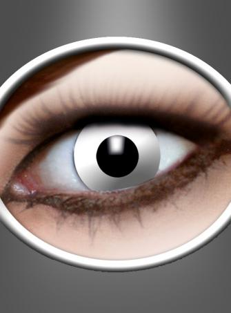 Kontaktlinsen Weiß Zombie