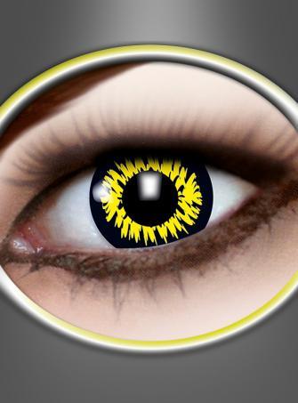 Kontaktlinsen Werwolf gelb