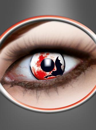 Kontaktlinsen Motiv Fledermaus