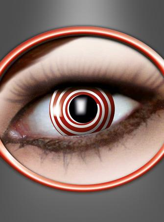 Contact Lenses Red Spiral