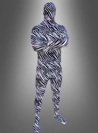 Zebra Tier Ganzkörperanzug