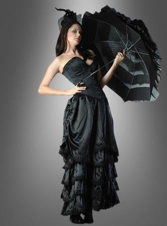 Long gothic skirt with ruching